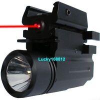 CREE LED Flashlight Red Laser/Sight For Pistol Gun Glock 17 19 20 21 22 23 30 31