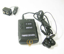 F908 Wireless transmitter receiver Covert FM Audio Listening Device Ear spy bug