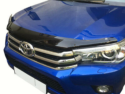 NEW Toyota Hilux 2016-2018 EGR Bonnet Guard Protector Bug Shield in Dark Smoke