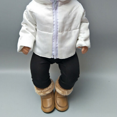 1 Pair doll winter brown boots shoes for 43cm doll and 18 inch dolls gift  LW6