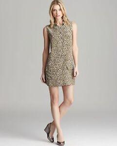 Equipment-Femme-Lucida-Leopard-Sleeveless-Small-Casual-Dress-Womens-Size-XS