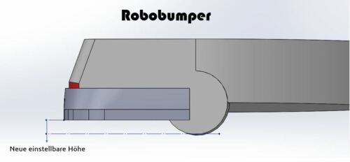 verhindert klettern des Roboters Robobumper für Vorwerk VR300