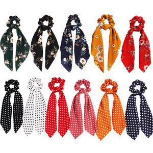 Ribbon-Hair-Band-Floral-Bow-Scrunchie-Hair-Bow-Ties-Ponytail-Scarf-Hair-Rope