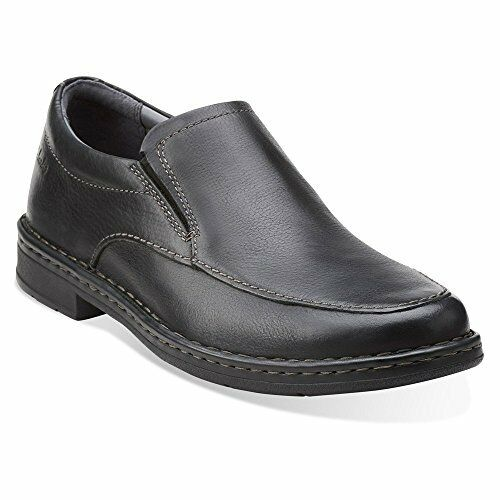 Clarks Men's Kyros Free Oxford Black Tumbled Leather Casual Shoes 26112747