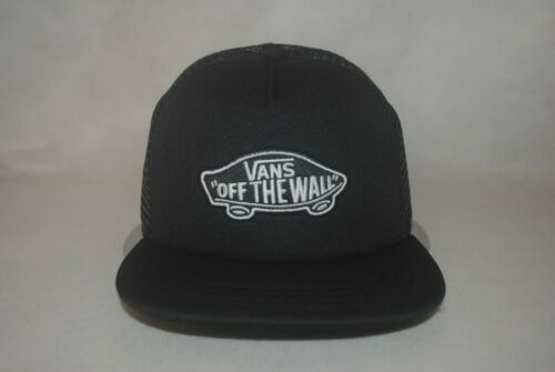 Branded New Boys 5-10 Classic Patch Black Mesh Trucker Hat Flat Bill Cap OSFM