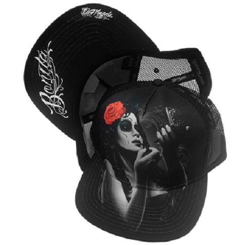 DGA Day of the Dead Rockabilly Art Sublimation Ladies Snapback Cap//Hat Bonita