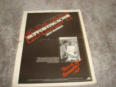 TERMS OF ENDEARMENT 1983 Oscar ad Jeff Daniels for Best ...