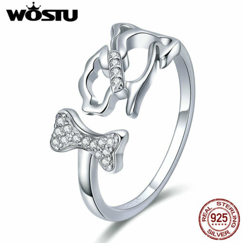 Wostu Engagement 925 Sterling Silver Rings CZ Wedding Ring Fashion Jewelry Gifts