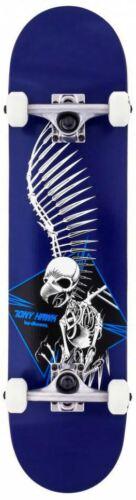 "7.5/"" Birdhouse Stage 1 Tony Hawk Full Skull Blue Complete Skateboard"