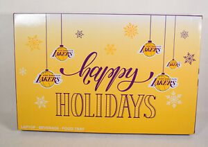 Los-Angeles-Lakers-Wooden-Food-Laptop-Beverage-Tray-NBA-New