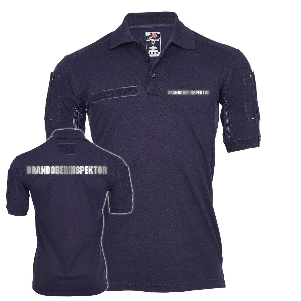 Tactical Poloshirt Brandoberinspektor reflektierend Feuerwehr Dienst Hemd Feuerw