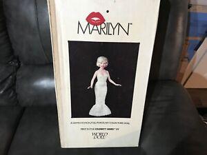 VINTAGE-1983-World-Doll-Full-Porcelain-Cream-Sequin-Marilyn-Monroe-Rare-NEW