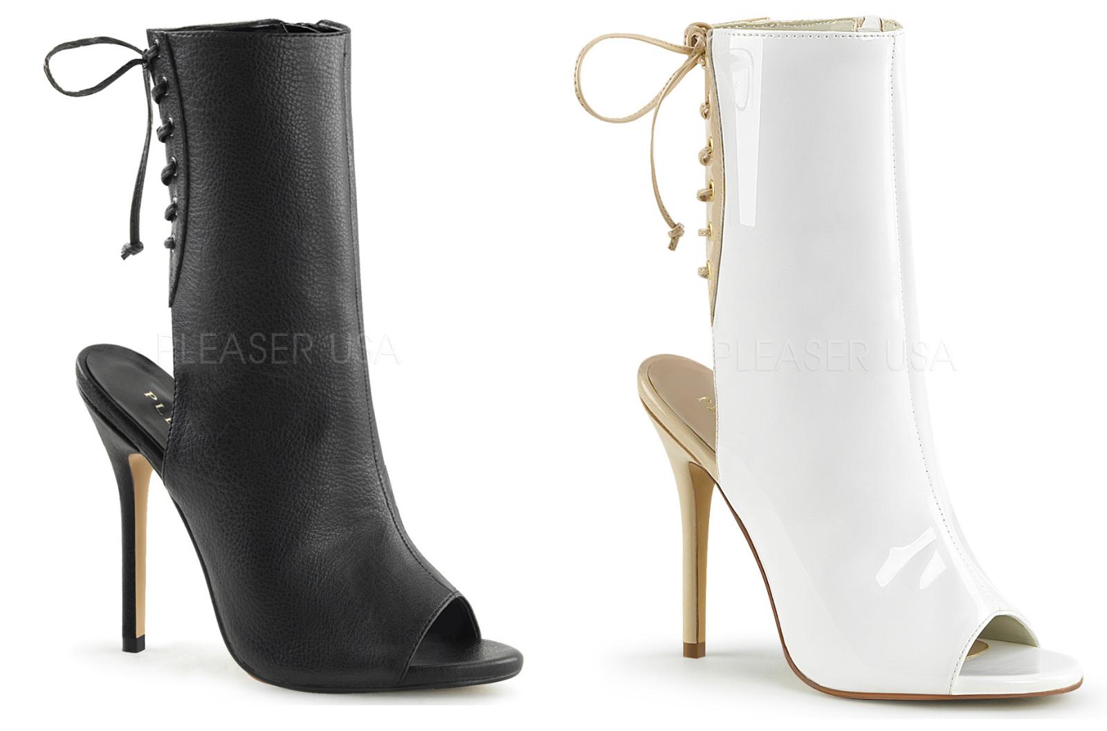 Pleaser AMUSE-1018 Open Toe Ankle Stiefel Größe 5-14