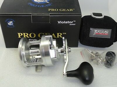 NEW PROGEAR V30 Pro Gear V 30 Star Drag reel Silver FREE SHIP JAWS COVER RH