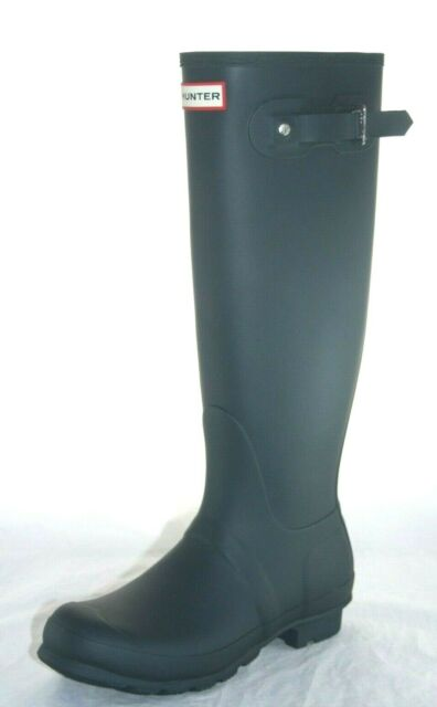 Womens Hunter Original Tall Navy Water Proof Rain Boots -4891