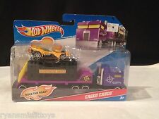BNIB~ CAGED CARGO Transport Trucking Transit Semi HotWheels~ HAUL 'EM & RACE 'EM