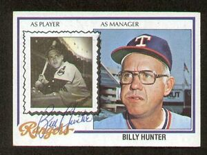 Billy-Hunter-548-signed-autograph-auto-1978-Topps-Baseball-Trading-Card