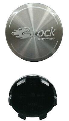 4x Original BROCK Radnabendeckel Nabendeckel Felgendeckel alu-gebürstet 60mm