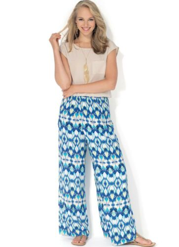 McCalls 7328 MISS//WOMEN OVERLAP WIDE-LEG PANTS CULOTTES PATTERN PLUS XS-XXL 4-26