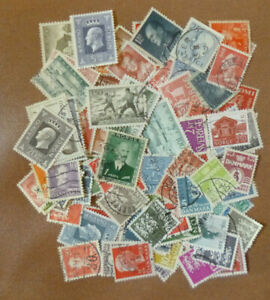 SCANDINAVIA-Collection-Packet-of-100-Different-POSTAGE-STAMPS-USED