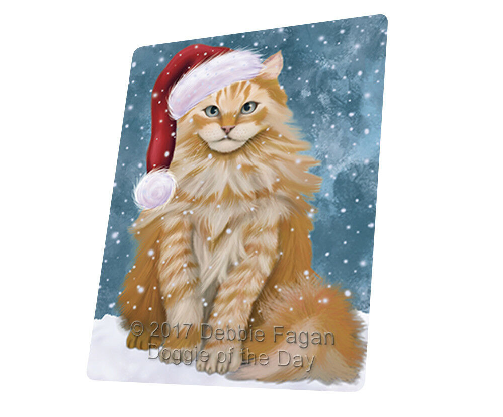 Let it Snow Christmas Holiday Siberian Cat Woven Throw Sherpa Blanket T33