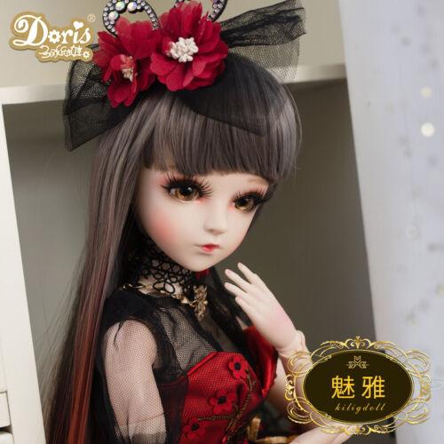 1/3 BJD Doll Baby Mädchen Puppe Gesicht Make-Up Abnehmbare Augen Mit Puppenkleid