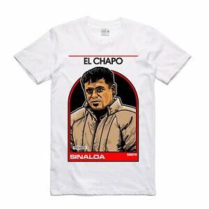 Nuovo-Streetwear-On-Demand-Basketball-Scheda-El-Chapo-Maglietta-Bianco