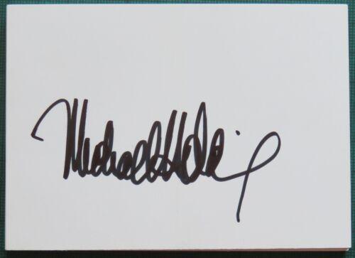 Michael Holding Signed Index Card West Indies Cricket Legend AFTAL