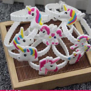 24pcs-Unicorn-Charms-Wristband-Silicone-Bracelet-Bangles-Rubber-Bracelet-DP