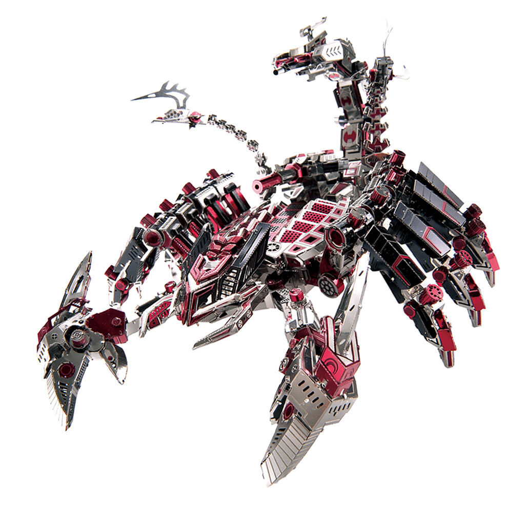 Metal Jigsaw Puzzle Toy Devil Scorpion Robot Model Toy Kid Gift Collections