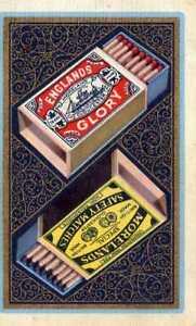 Adroit Vintage Unique Carte à Jouer, Boîtes D'allumettes Morlands, Englands Gloire, Publicité,-afficher Le Titre D'origine Prix ModéRé