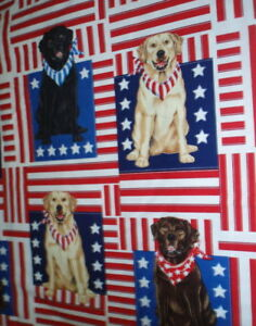 Patriotic-Dogs-labs-flags-Americana-Timeless-Treasures-fabric