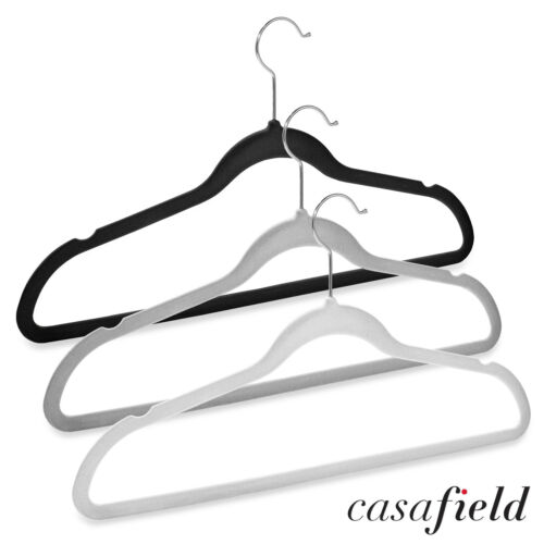 50 Velvet Suit Hangers for Dress Clothes Coats Jackets Pants Shirts Skirts