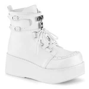 White Platform Creepers Sneaker Ankle