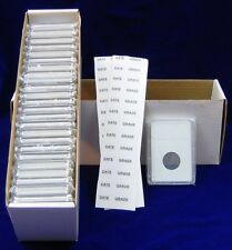 100 coin holders Slab Style for Canadian Silver Dollar size**36.0mm**
