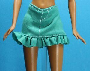 7df2a5dbf Sparkle Girlz Stretch Teal Green Ruffle Mini Skirt fits Barbie Made ...