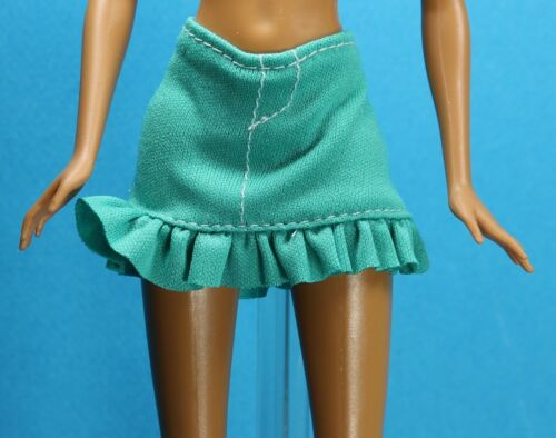 Sparkle Girlz Stretch Teal Green Ruffle Mini Skirt fits Barbie Made to Move Doll