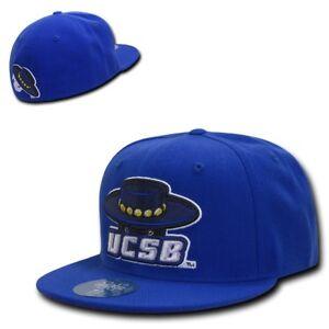 NCAA UCSB UC Santa Barbara Gruchos 6 Panel Relaxed Denim Baseball Caps Hats Blue
