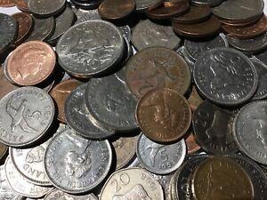 100 gramos de monedas residual/circulación monedas Islas Malvinas