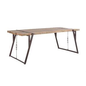 tavolo in legno di abete design industry tavoli da pranzo cucina struttura ferro