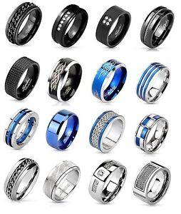 Verlobungsring herren schwarz blau silber chevaliere - Verlobungsring blau ...