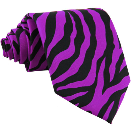 New Vesuvio Napoli Polyester Men/'s Neck Tie necktie animal zebra print purple