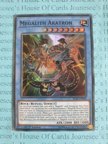 Megalith Aratron IGAS-EN040 Super Rare Yu-Gi-Oh Card 1st Edition New