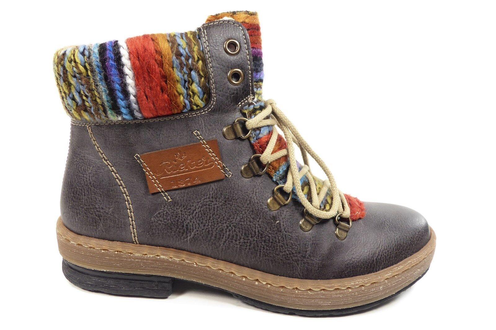 Rieker Damenschuhe Stiefel Z6743-45 Reißverschluss Z6743-45 Stiefel Grau 06992b
