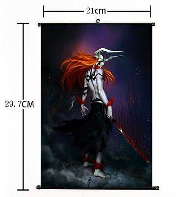Hot Japan Anime Bleach Cool Kurosaki ichigo Bankai Home Decor Poster Wall Scroll