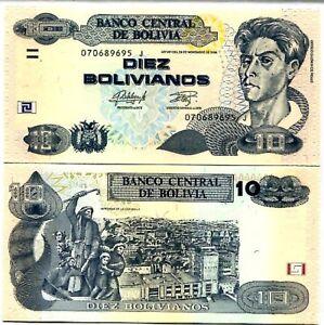 1986 2015 Bolivia 10 Bolivianos P-243 Unc