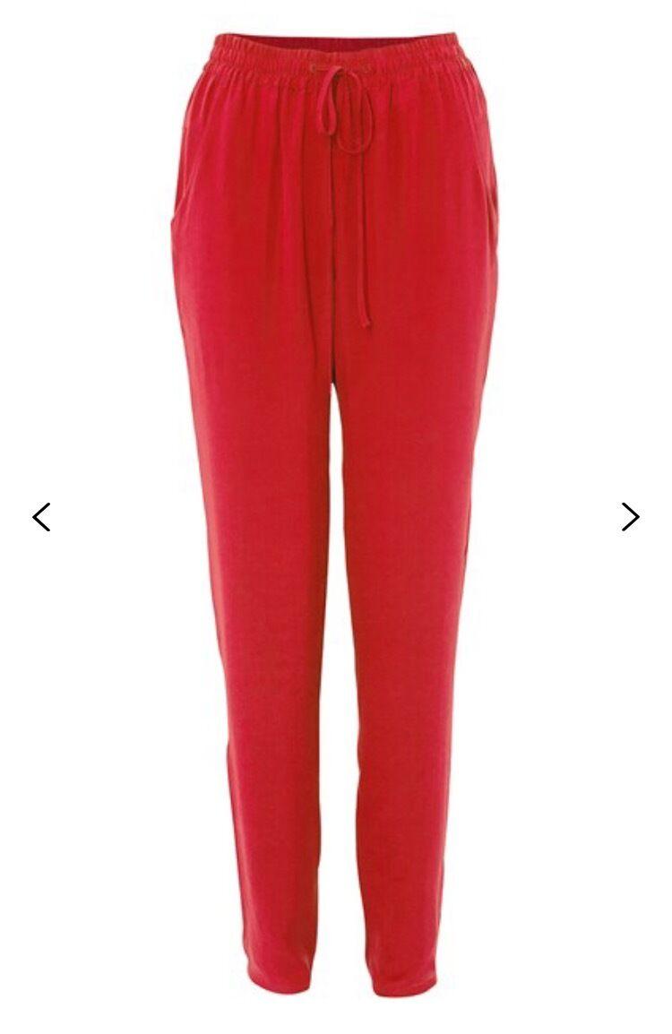 NWT French Connection Chelsea Silk Tie Waist Trouser US Größe 8 MSRP