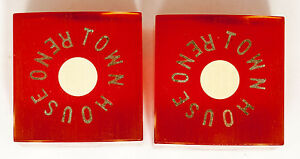 Pair-1932-55-Town-House-Dice-Blue-Logo-Riding-Lesson-Gold-Letters-Town-House