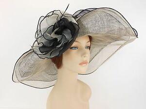 New Woman Church Derby Wedding Sinamay 3 Layers Dress Hat 2397 Black Multicolor