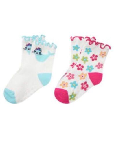 Nwts 12 24 2 Pair Pack Socks Gymboree Rainbow Cabana Seals Flowers